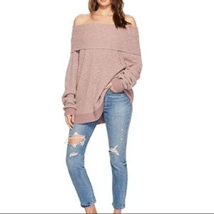 Free People By Your Side Deep Blush Sweater